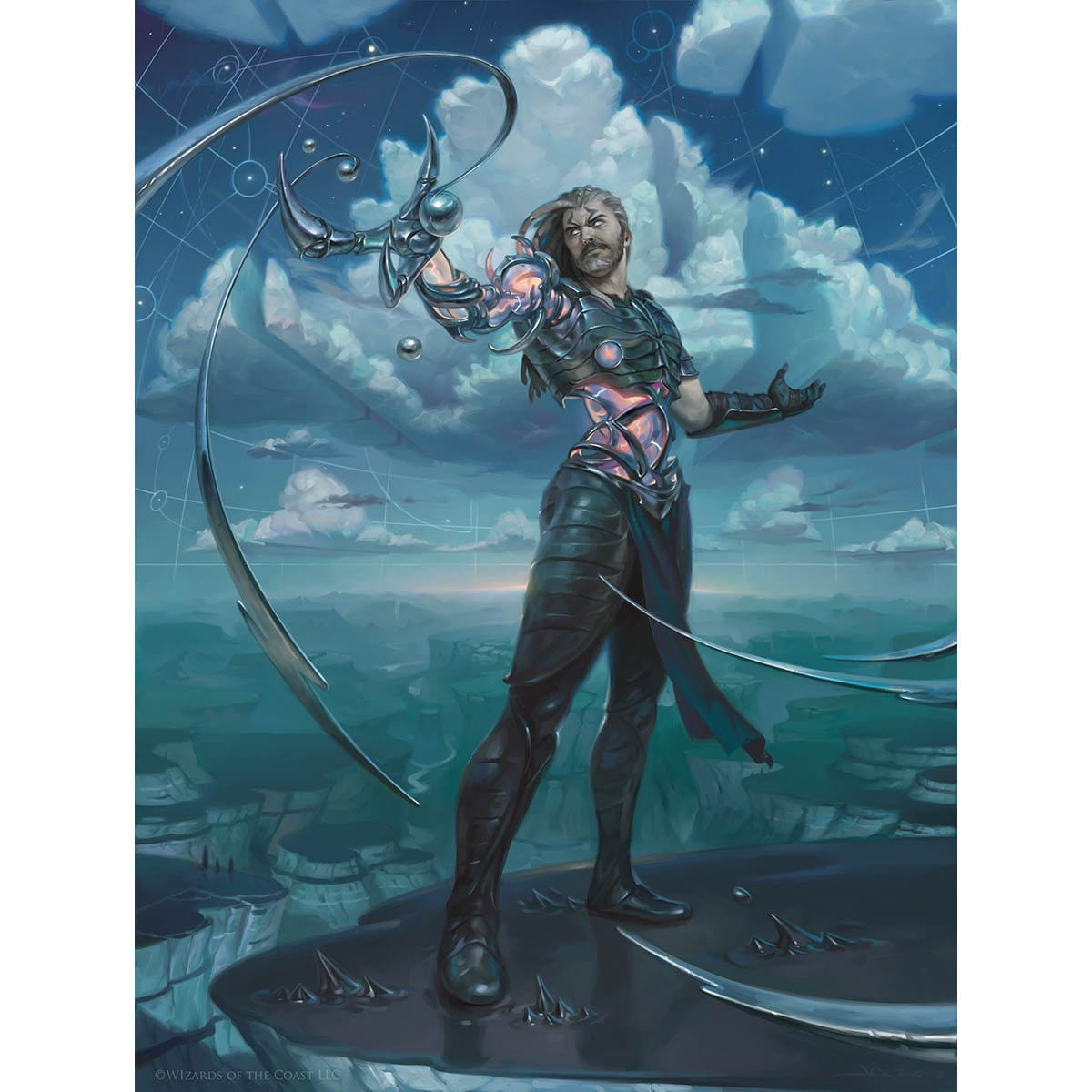 Tezzeret the Seeker Print - Print - Original Magic Art - Accessories for Magic the Gathering and other card games