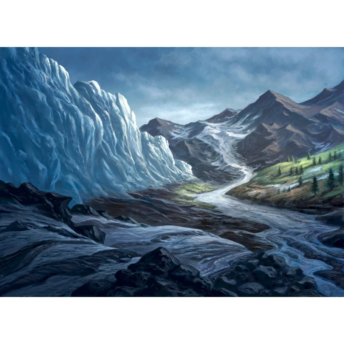 Thawing Glaciers Print - Print - Original Magic Art - Accessories for Magic the Gathering and other card games