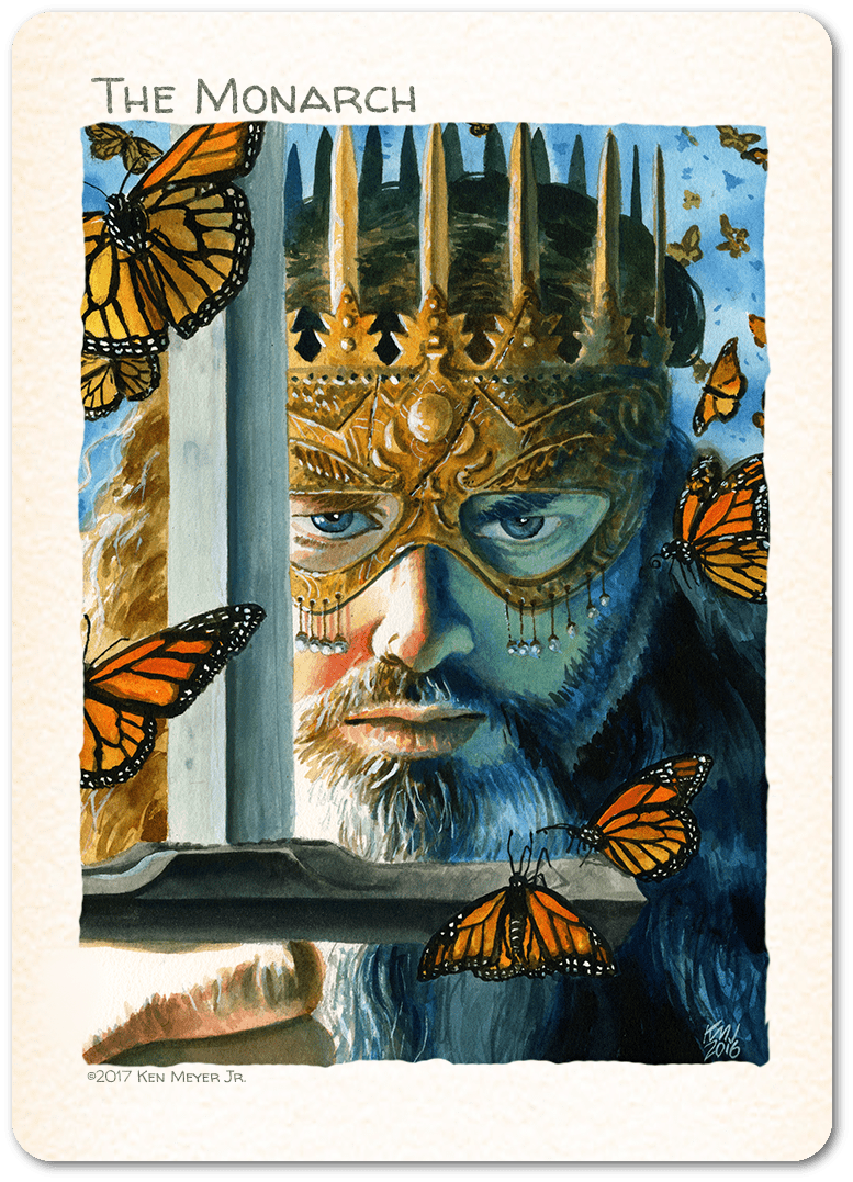 The Monarch Token by Ken Meyer Jr. - Token - Original Magic Art - Accessories for Magic the Gathering and other card games