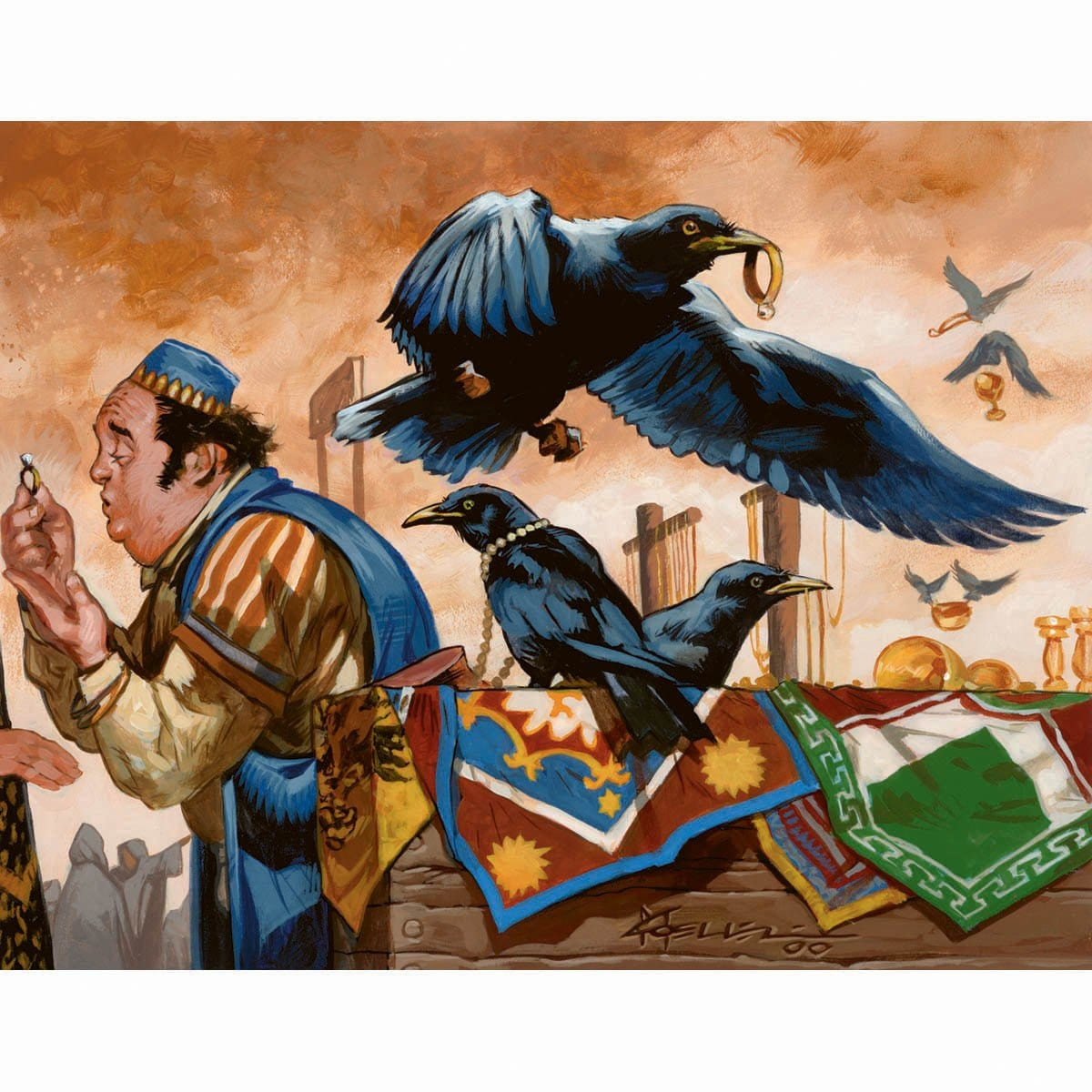 Thieving Magpie Print - Print - Original Magic Art - Accessories for Magic the Gathering and other card games