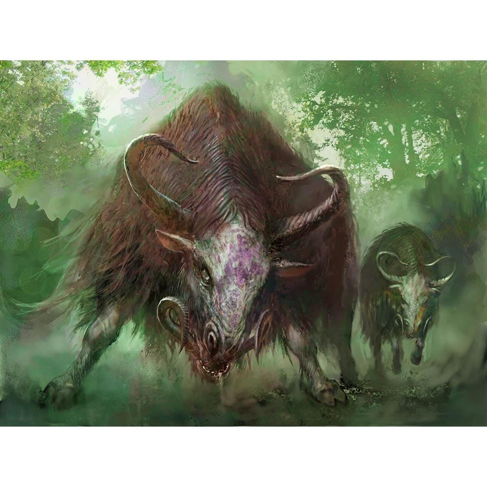 Thragtusk Print - Print - Original Magic Art - Accessories for Magic the Gathering and other card games