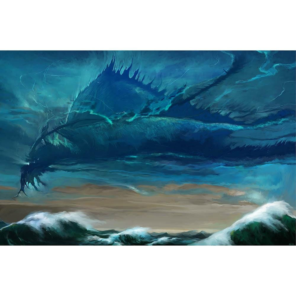 Thundercloud Elemental Print - Print - Original Magic Art - Accessories for Magic the Gathering and other card games