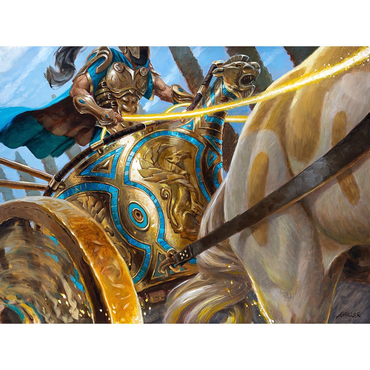 Thundering Chariot Print - Print - Original Magic Art - Accessories for Magic the Gathering and other card games