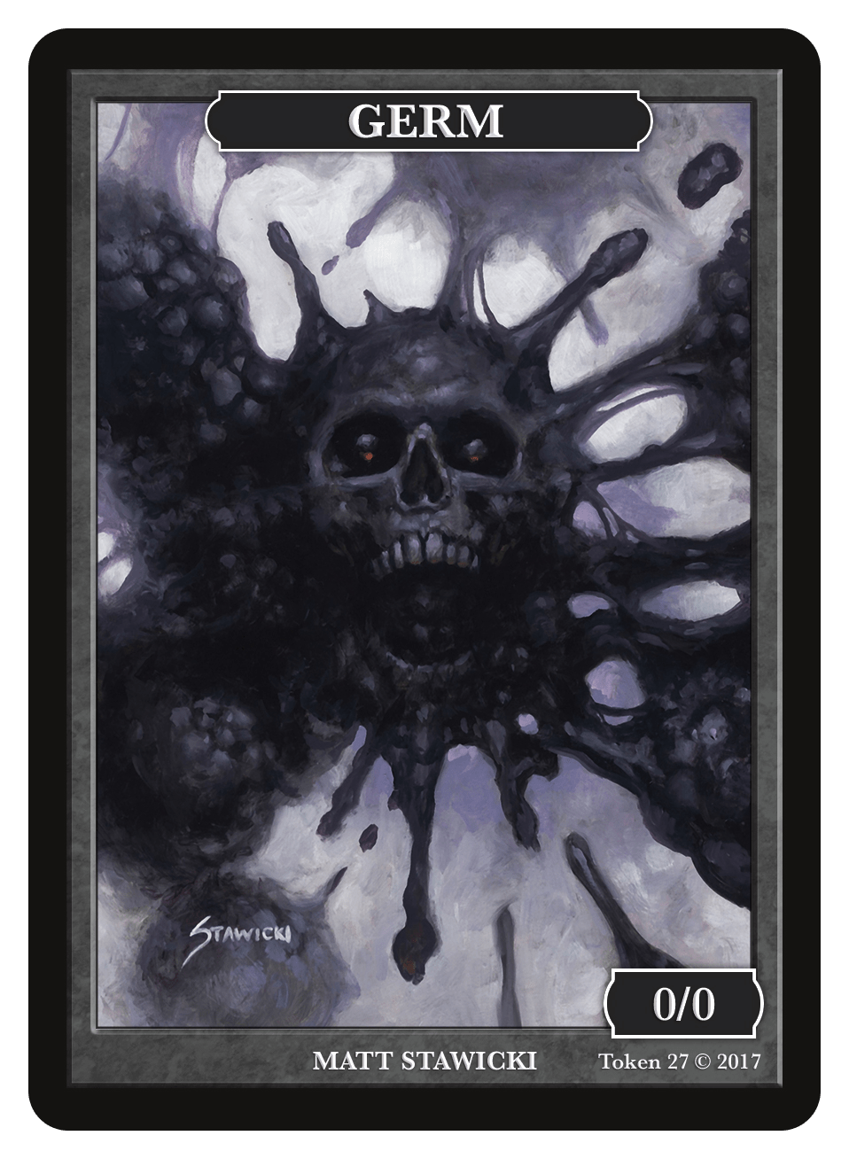 Germ Token (0/0) by Matt Stawicki - Token - Original Magic Art - Accessories for Magic the Gathering and other card games