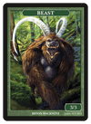 Beast Token (3/3) by Bryon Wackwitz - Token - Original Magic Art - Accessories for Magic the Gathering and other card games
