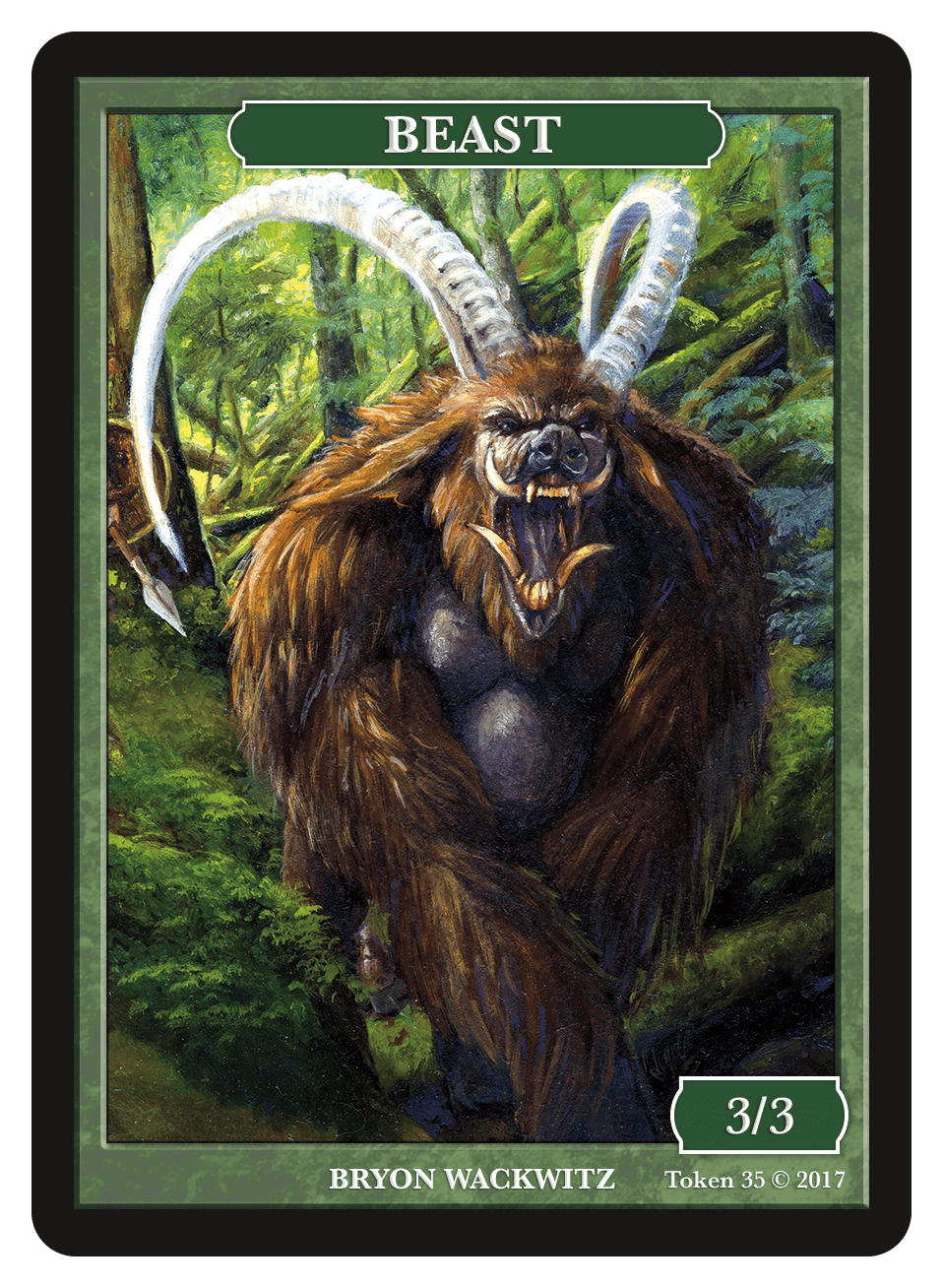 Beast Token (3/3) by Bryon Wackwitz
