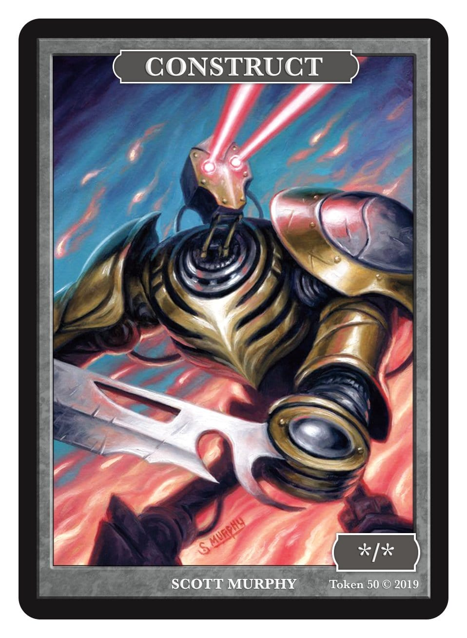 Construct Token (*/*) by Scott Murphy - Token - Original Magic Art - Accessories for Magic the Gathering and other card games