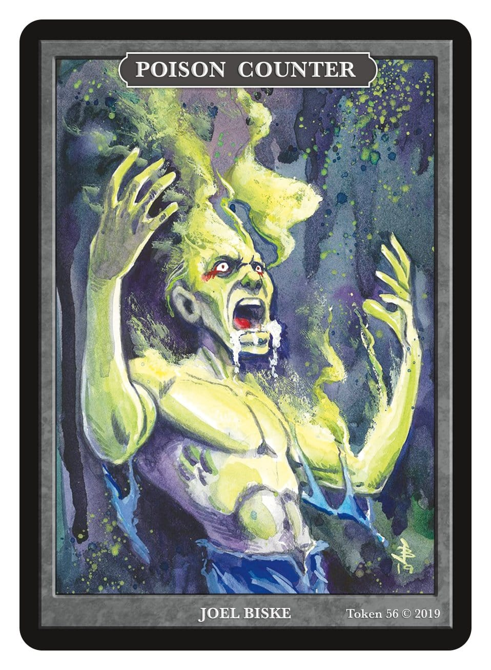 Poison Counter Token by Joel Biske - Token - Original Magic Art - Accessories for Magic the Gathering and other card games