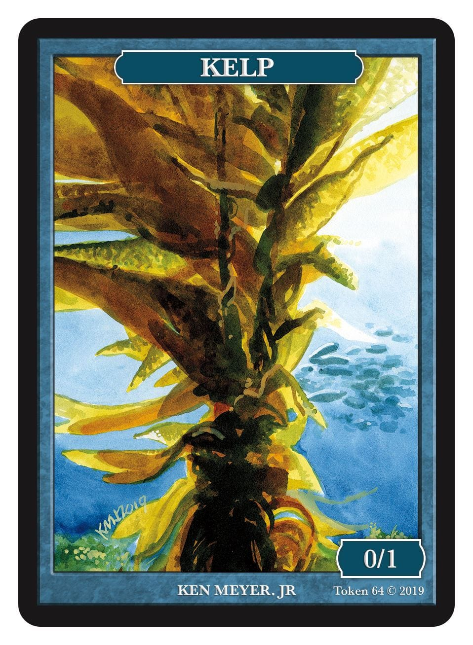 Kelp Token (0/1) by Ken Meyer Jr. - Token - Original Magic Art - Accessories for Magic the Gathering and other card games