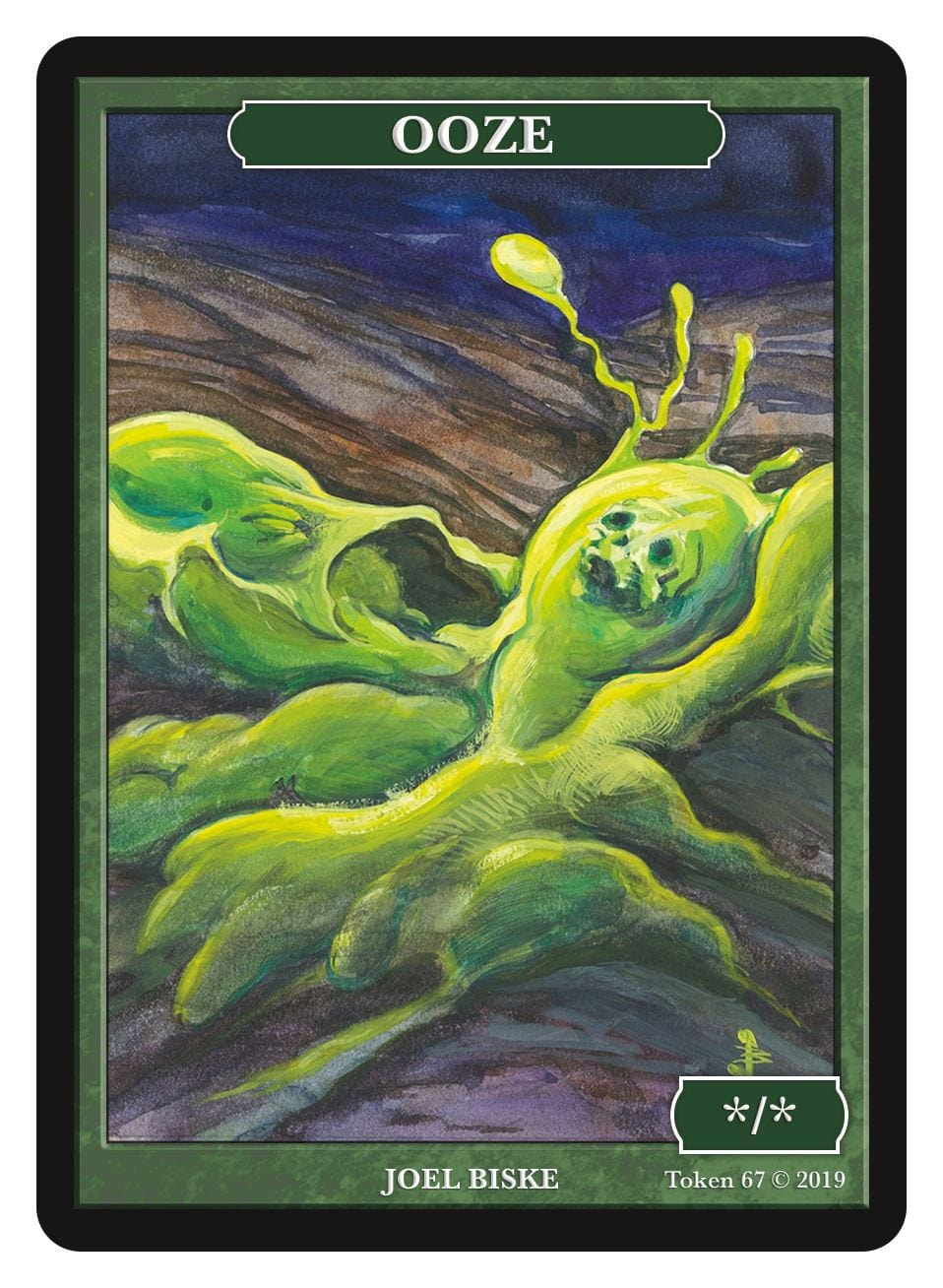 Ooze Token (*/*) by Joel Biske - Token - Original Magic Art - Accessories for Magic the Gathering and other card games