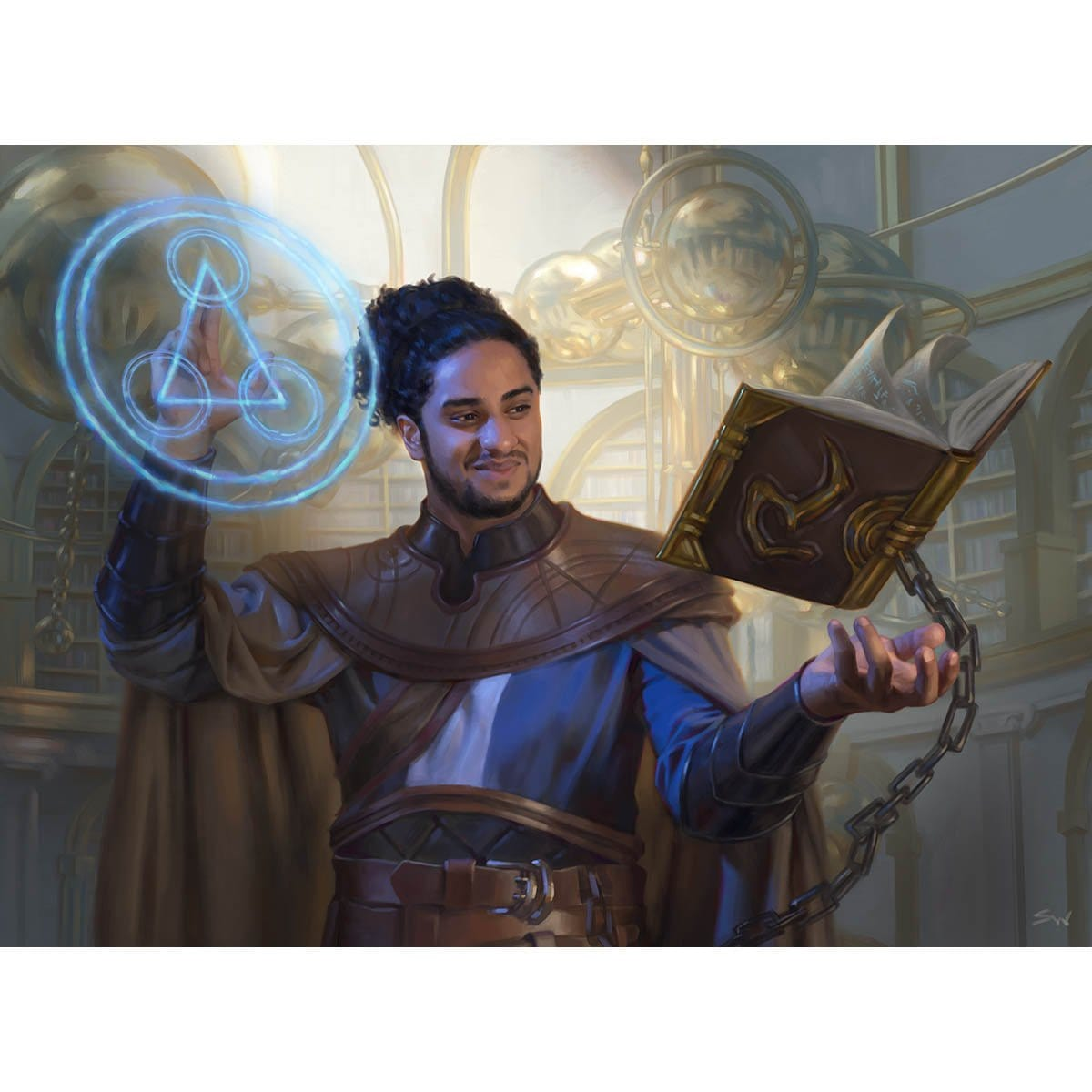 Tolarian Scholar Print - Print - Original Magic Art - Accessories for Magic the Gathering and other card games