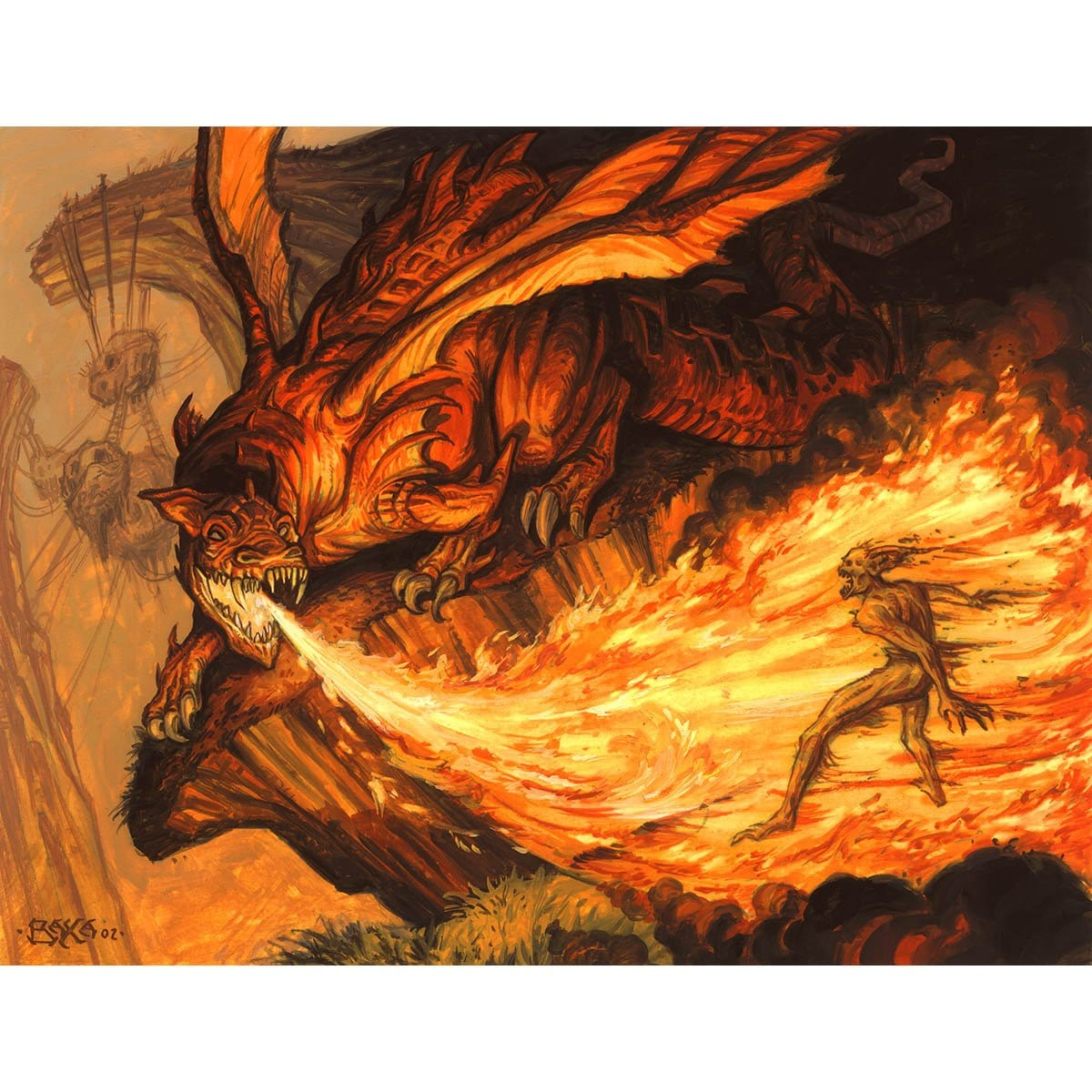 Torrent of Fire Print - Print - Original Magic Art - Accessories for Magic the Gathering and other card games