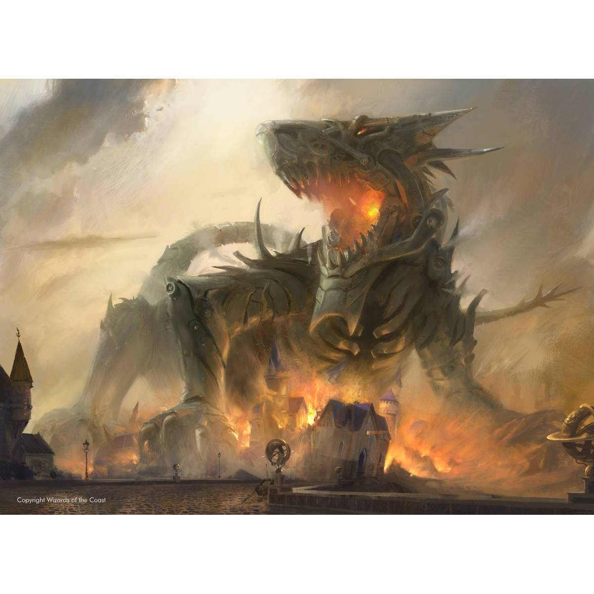 Traxos, Scourge of Kroog Print - Print - Original Magic Art - Accessories for Magic the Gathering and other card games