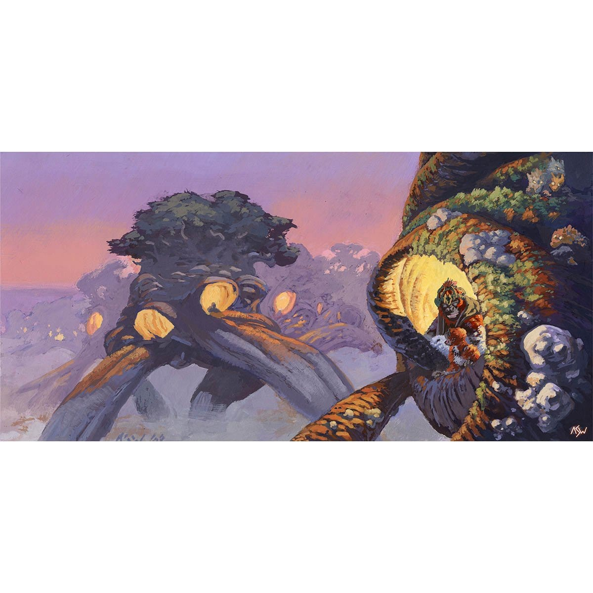 Treetop Village Print - Print - Original Magic Art - Accessories for Magic the Gathering and other card games