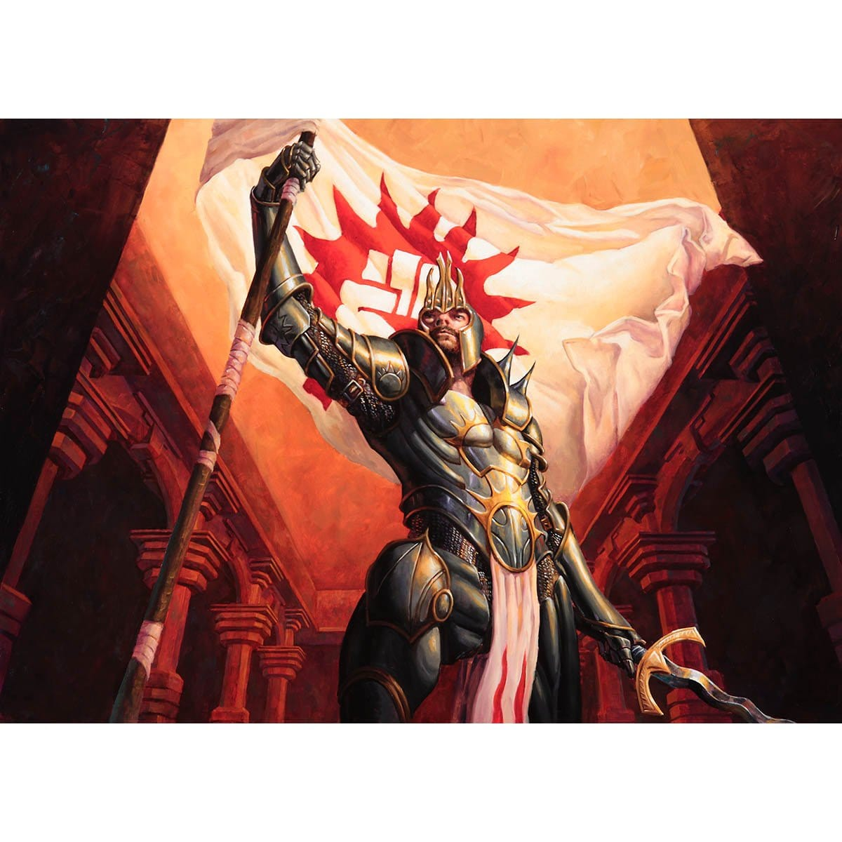 Truefire Paladin Print - Print - Original Magic Art - Accessories for Magic the Gathering and other card games