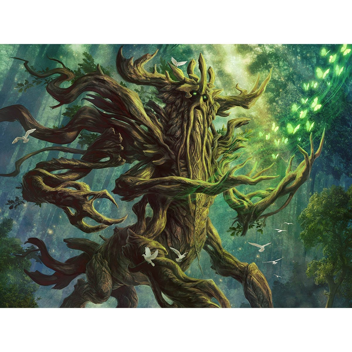 Tuinvale Treefolk Print - Print - Original Magic Art - Accessories for Magic the Gathering and other card games