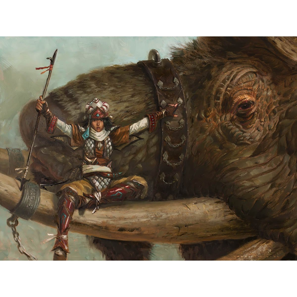 Tuskguard Captain Print - Print - Original Magic Art - Accessories for Magic the Gathering and other card games