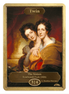 Twin Token (3/4) by Rembrandt Peale - Token - Original Magic Art - Accessories for Magic the Gathering and other card games