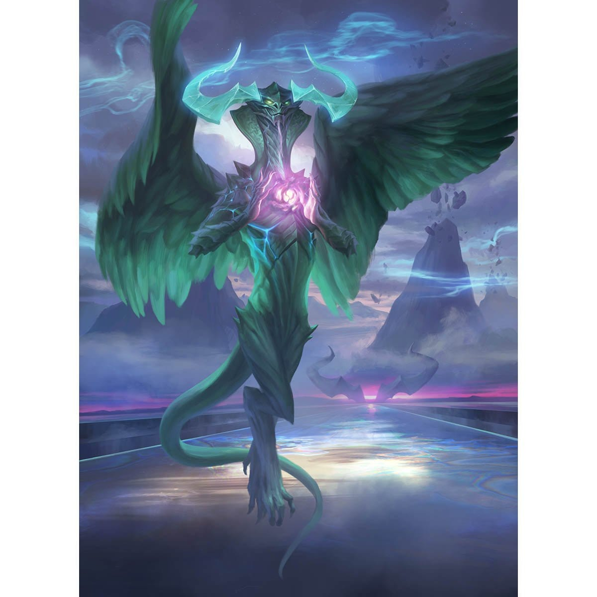 Ugin, the Ineffable Print - Print - Original Magic Art - Accessories for Magic the Gathering and other card games