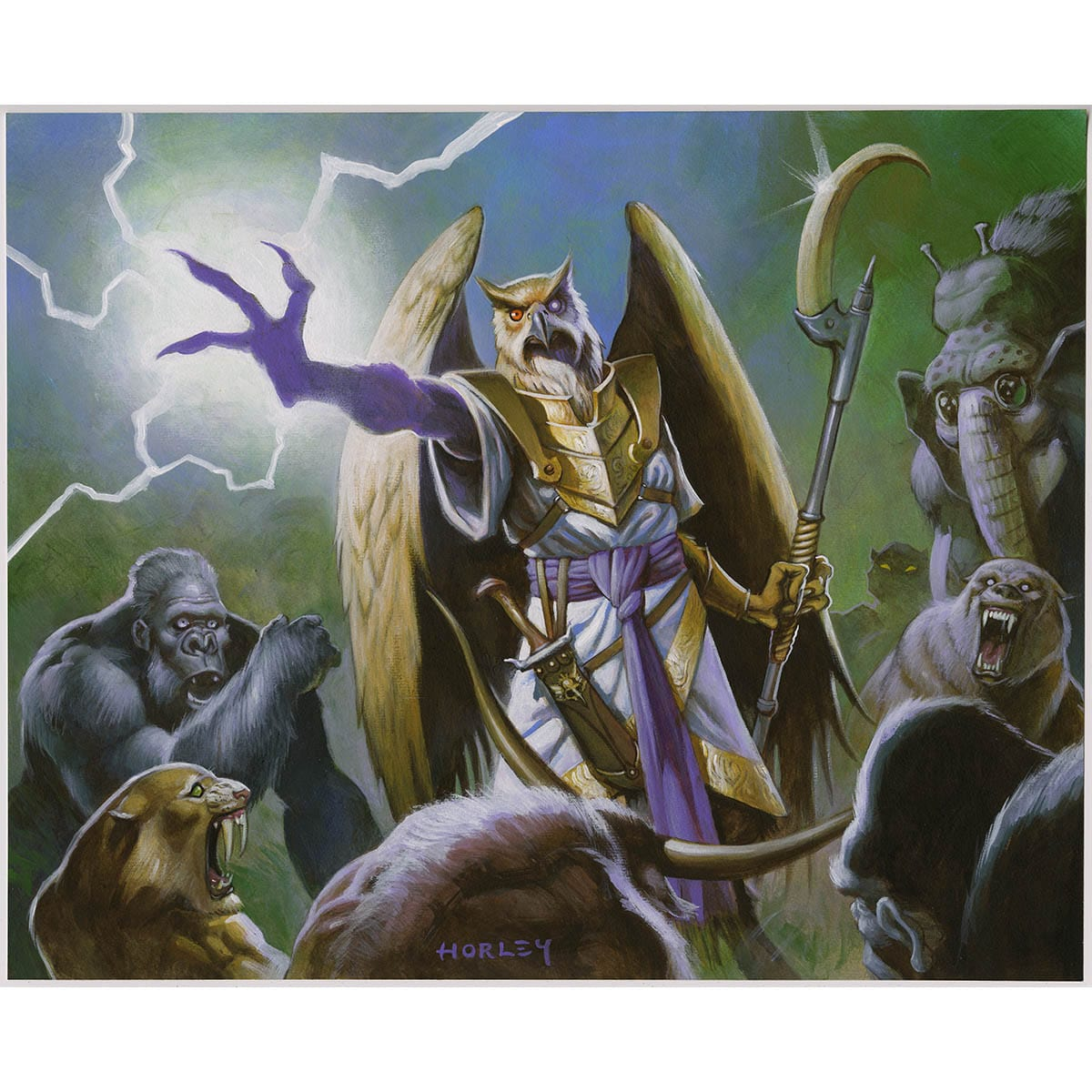 Unquestioned Authority Print - Print - Original Magic Art - Accessories for Magic the Gathering and other card games