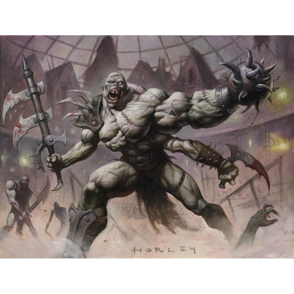 Vengeful Dead Print - Print - Original Magic Art - Accessories for Magic the Gathering and other card games