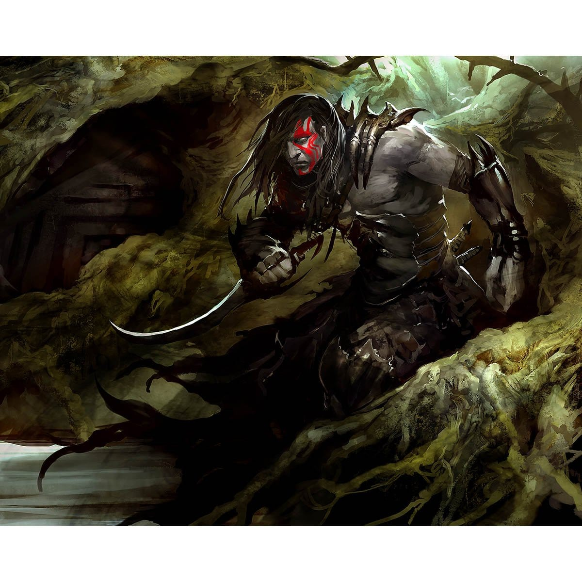 Vampire Token Print - Print - Original Magic Art - Accessories for Magic the Gathering and other card games