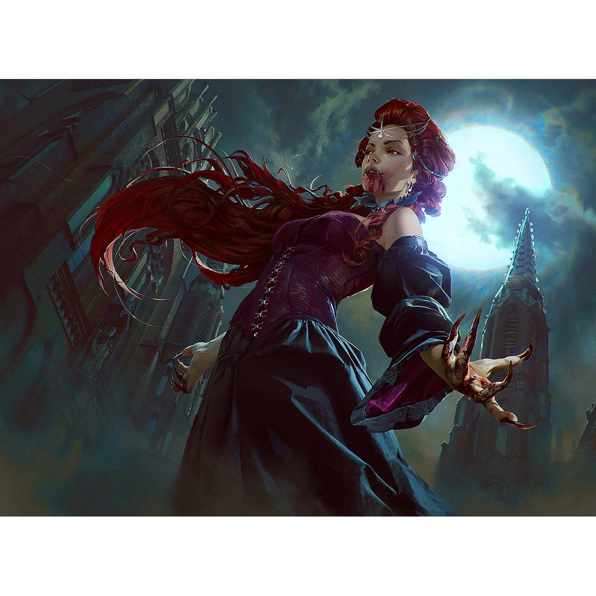 Vampire of the Dire Moon Print - Print - Original Magic Art - Accessories for Magic the Gathering and other card games