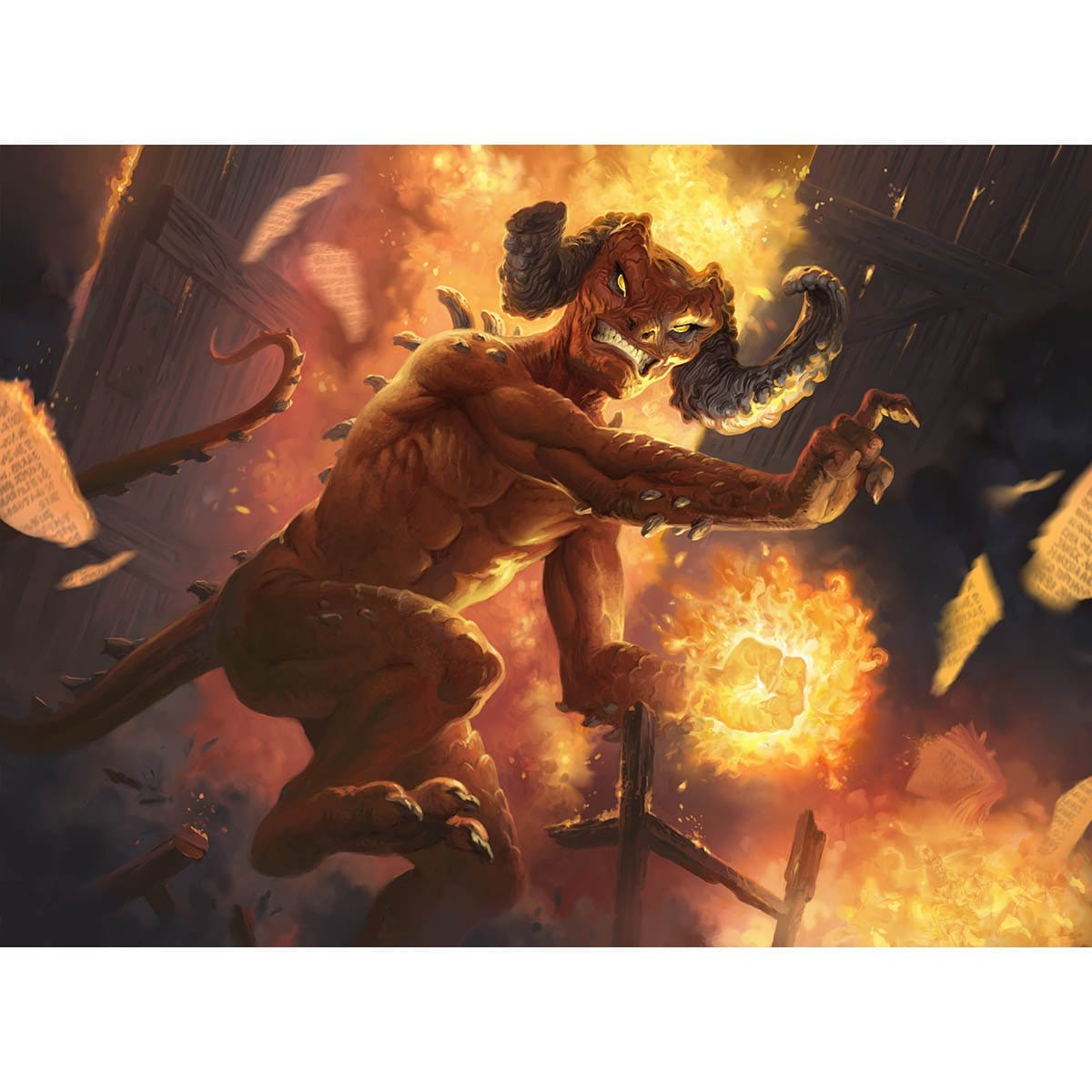 Vengeful Devil Print - Print - Original Magic Art - Accessories for Magic the Gathering and other card games