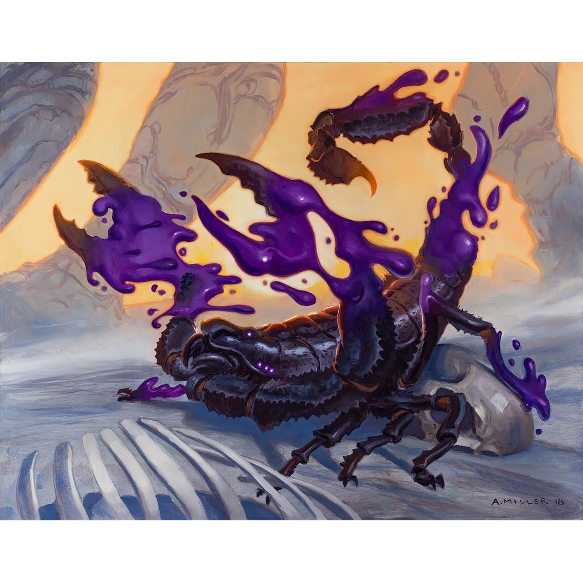 Venomous Changeling Print - Print - Original Magic Art - Accessories for Magic the Gathering and other card games