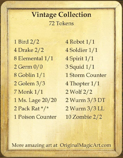 Vintage Token Collection