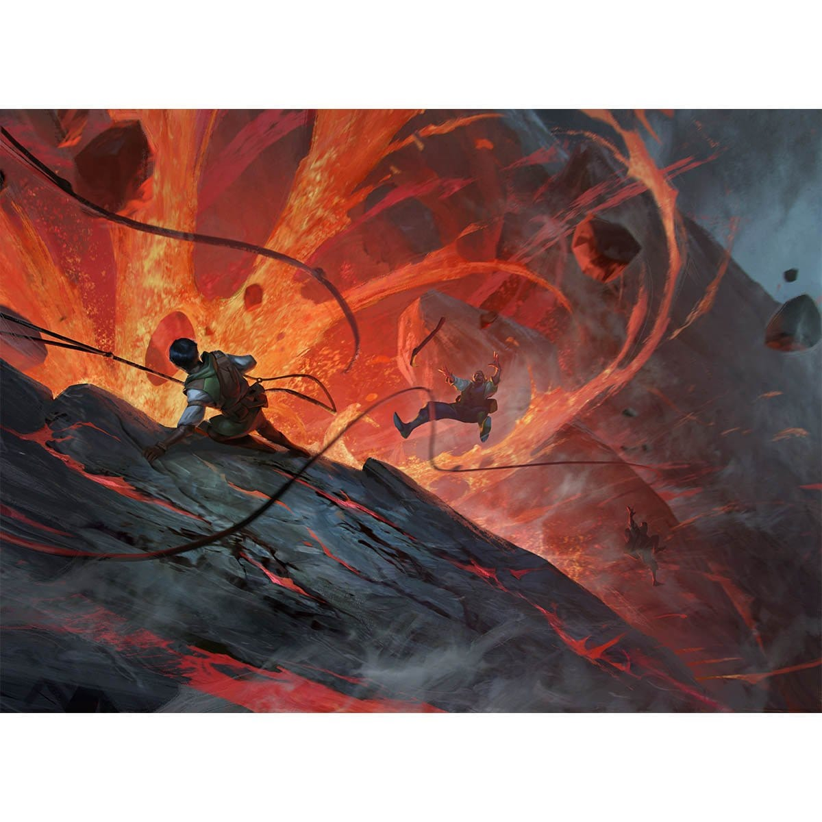 Violent Eruption Print - Print - Original Magic Art - Accessories for Magic the Gathering and other card games