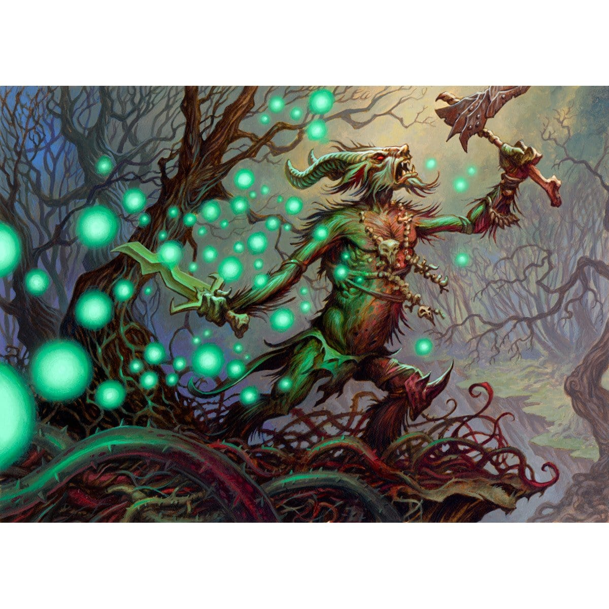 Viridescent Wisps Print - Print - Original Magic Art - Accessories for Magic the Gathering and other card games