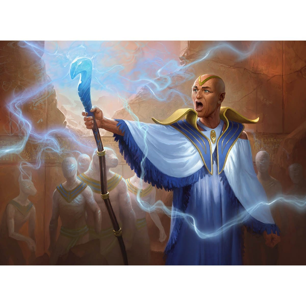 Vizier of the Anointed Print - Print - Original Magic Art - Accessories for Magic the Gathering and other card games
