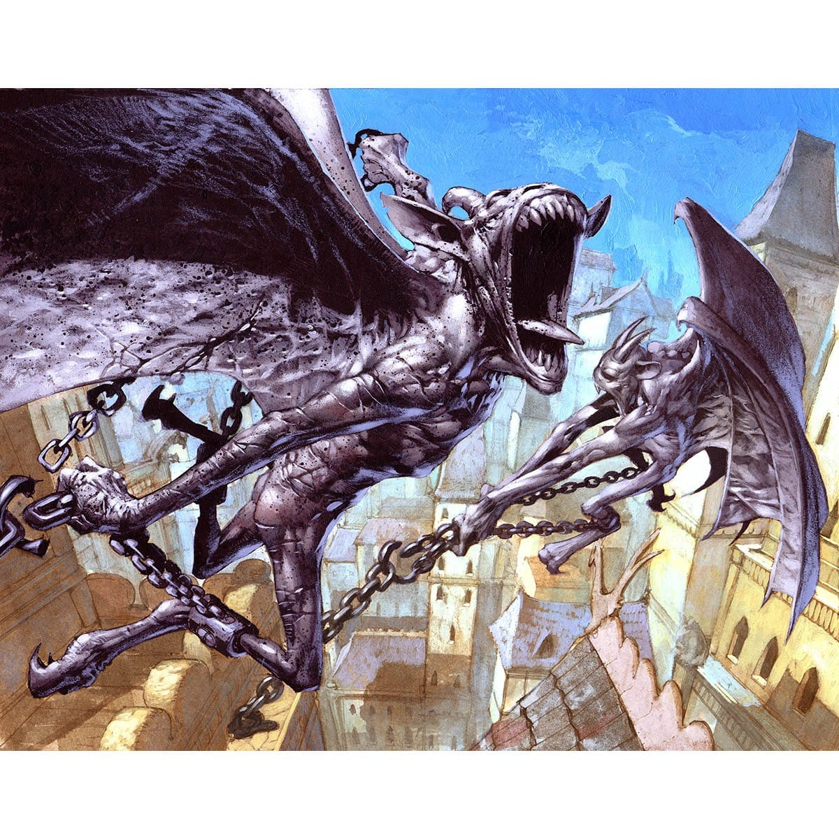 Wakestone Gargoyle Print - Print - Original Magic Art - Accessories for Magic the Gathering and other card games
