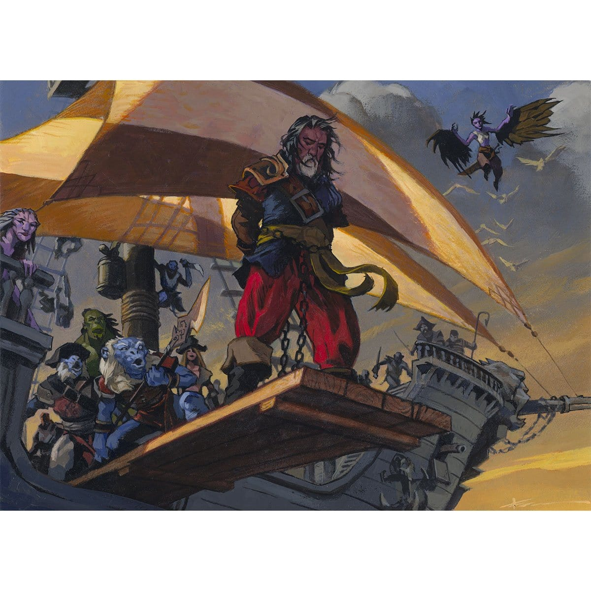 Walk the Plank Print - Print - Original Magic Art - Accessories for Magic the Gathering and other card games