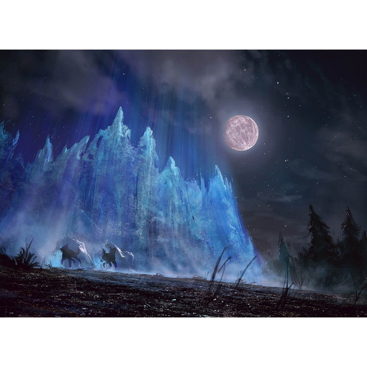 Wall of Frost Print - Print - Original Magic Art - Accessories for Magic the Gathering and other card games