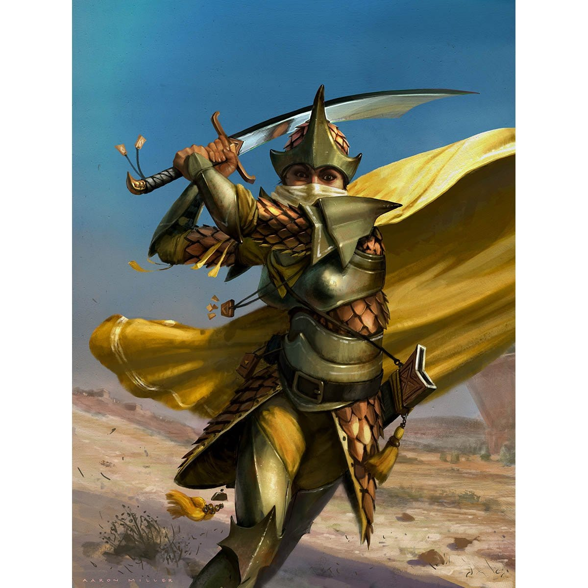Warrior Token Print - Print - Original Magic Art - Accessories for Magic the Gathering and other card games