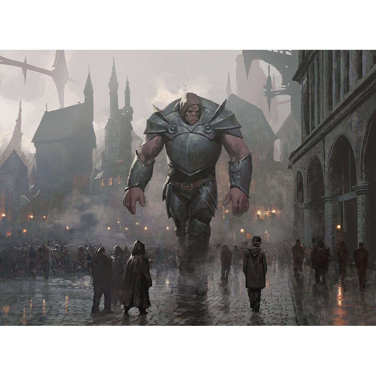 Watchful Giant Print - Print - Original Magic Art - Accessories for Magic the Gathering and other card games
