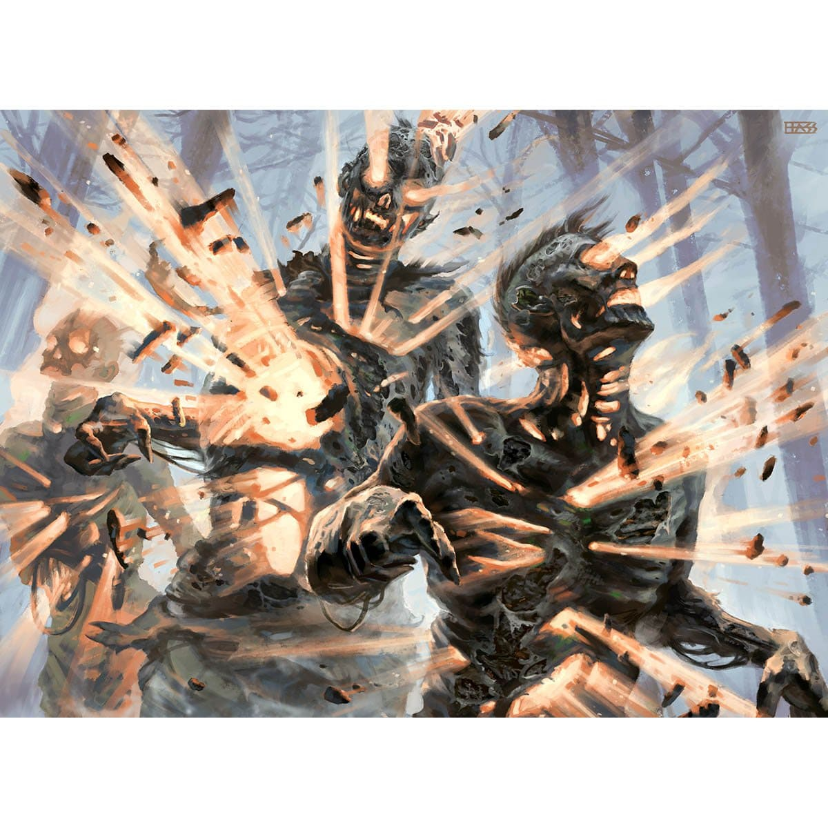 Wave of Reckoning Print - Print - Original Magic Art - Accessories for Magic the Gathering and other card games
