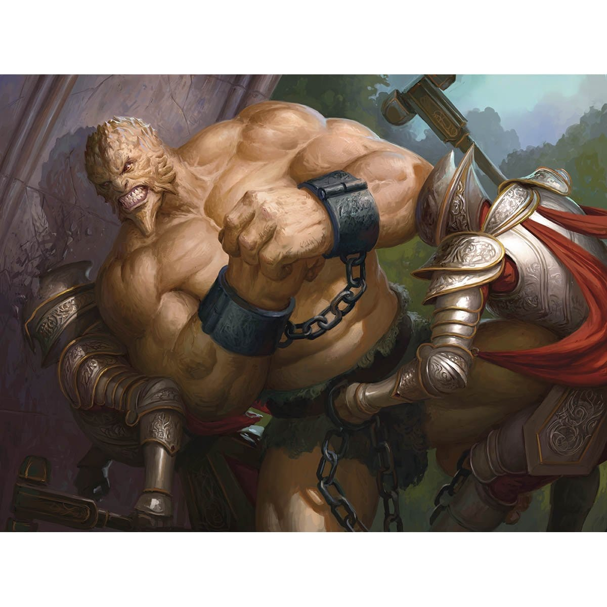 Weight Advantage Print - Print - Original Magic Art - Accessories for Magic the Gathering and other card games