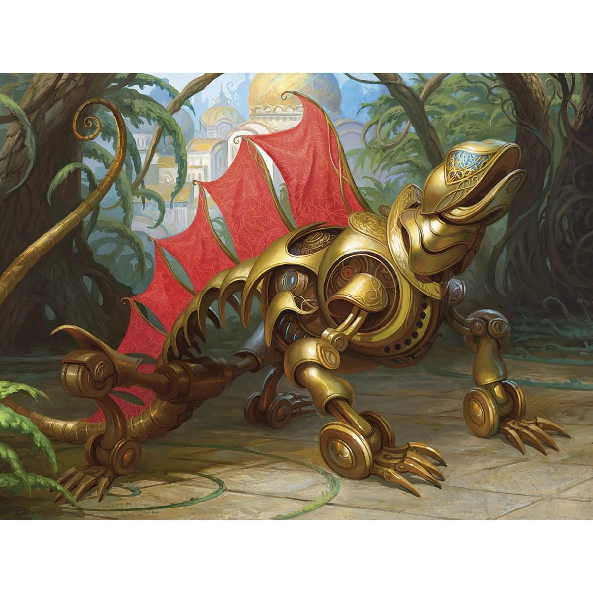 Weldfast Monitor Print - Print - Original Magic Art - Accessories for Magic the Gathering and other card games