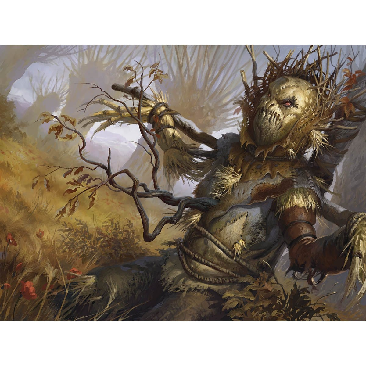 Wild-Field Scarecrow Print - Print - Original Magic Art - Accessories for Magic the Gathering and other card games