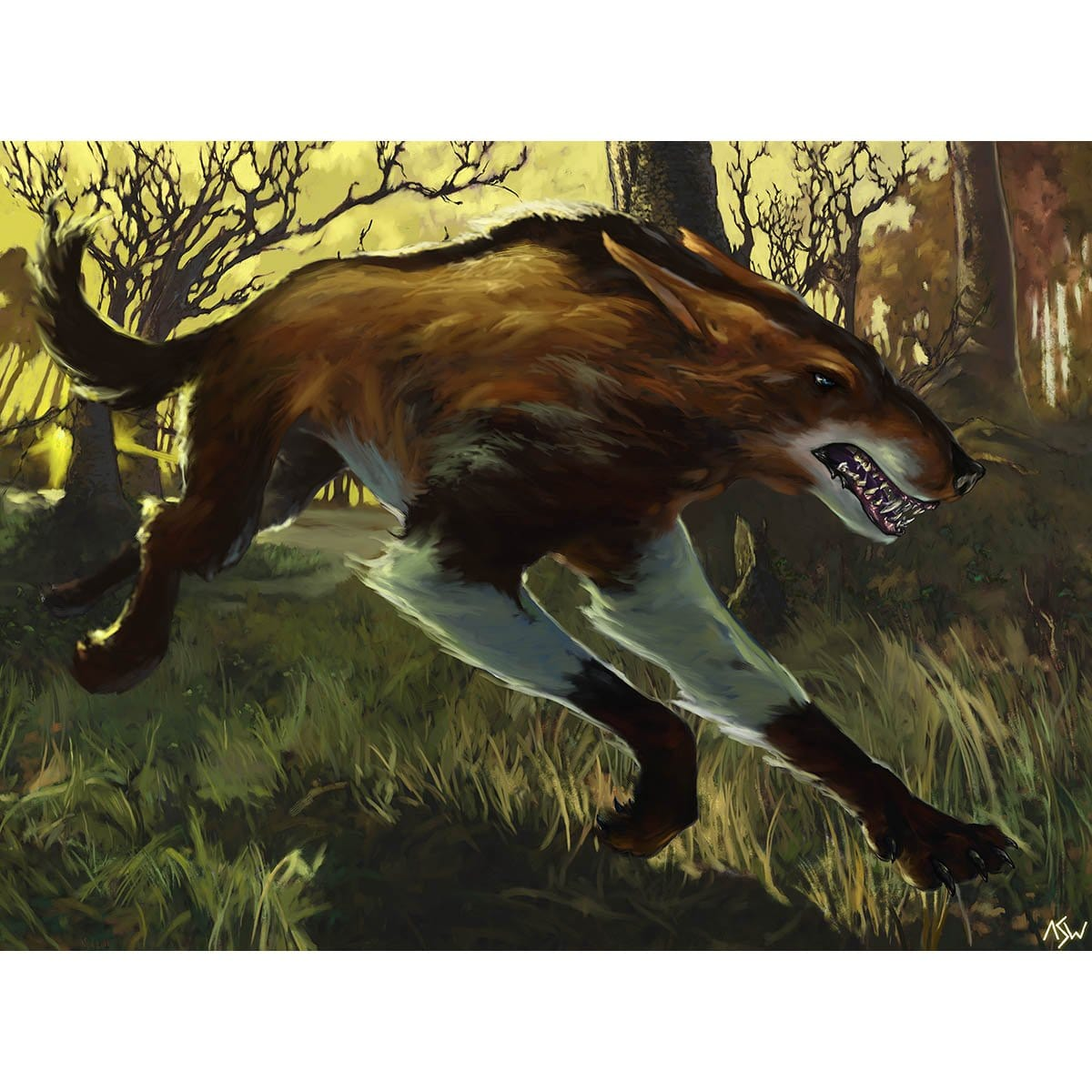 Wild Mongrel Print - Print - Original Magic Art - Accessories for Magic the Gathering and other card games