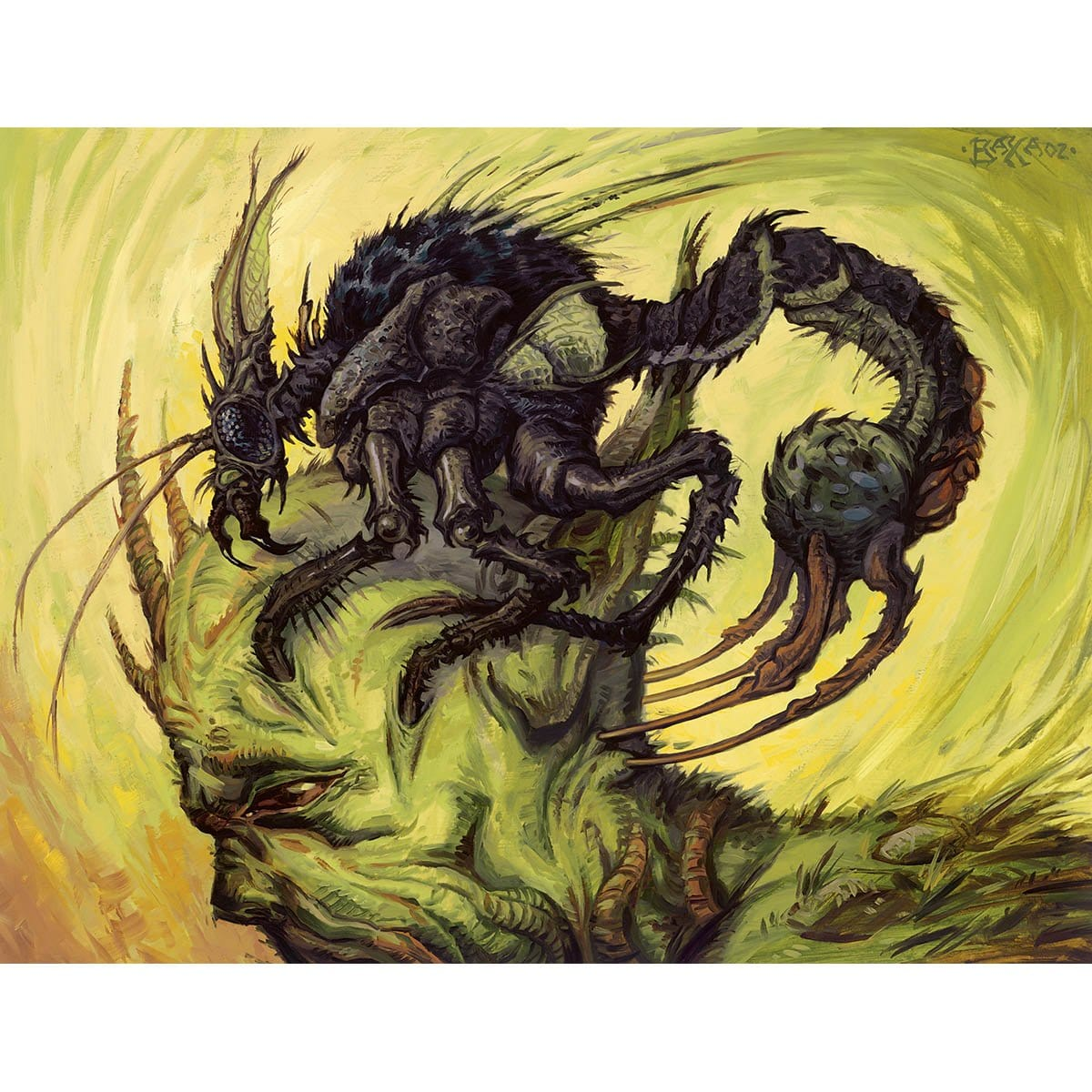 Wirewood Symbiote Print - Print - Original Magic Art - Accessories for Magic the Gathering and other card games