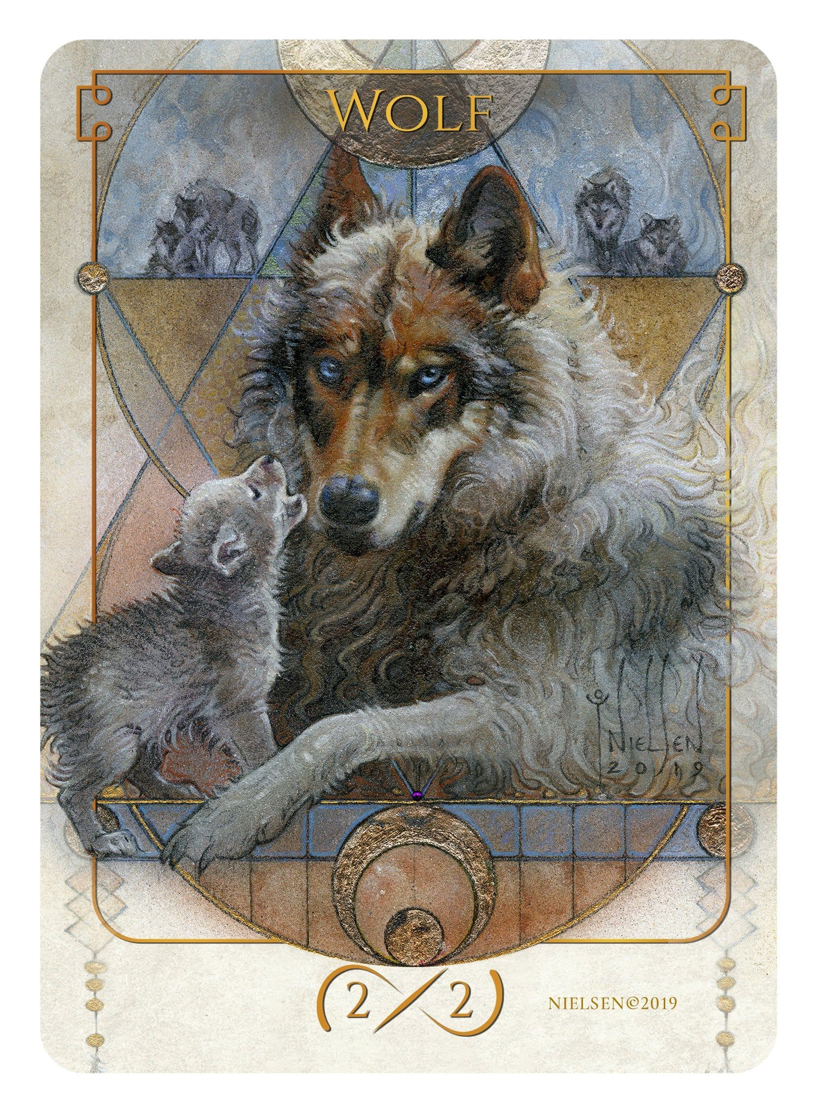 Wolf Token (2/2) by Tokens of Spirit