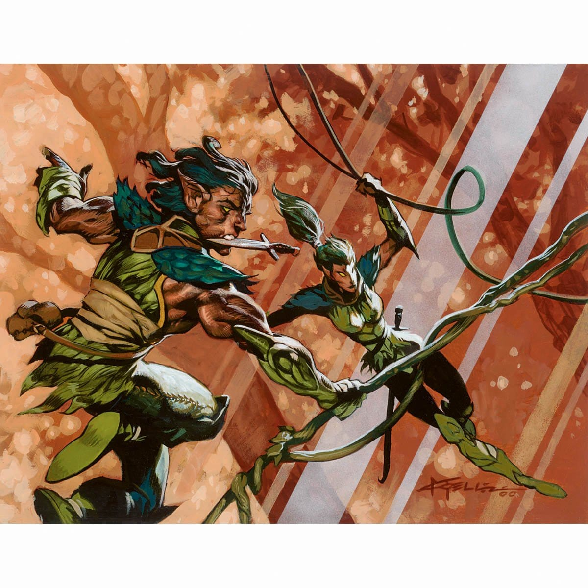 Wood Elves Print - Print - Original Magic Art - Accessories for Magic the Gathering and other card games