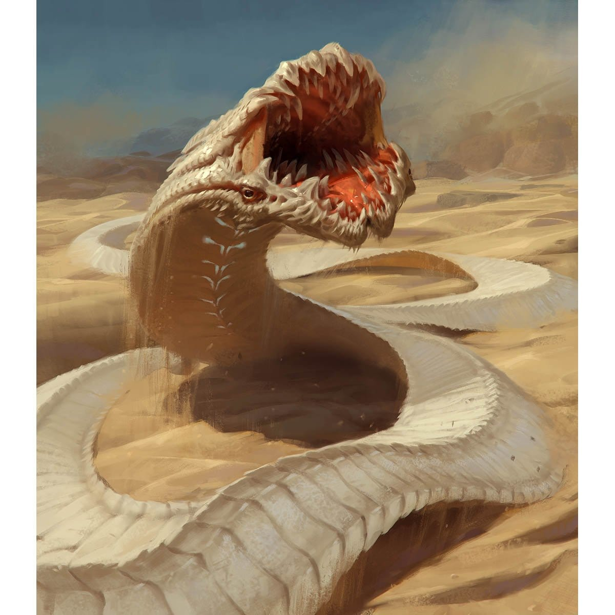 Wurm Token Print - Print - Original Magic Art - Accessories for Magic the Gathering and other card games