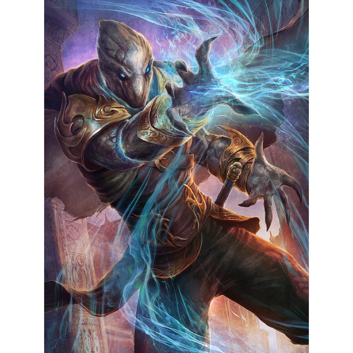 Yahenni's Expertise Print - Print - Original Magic Art - Accessories for Magic the Gathering and other card games