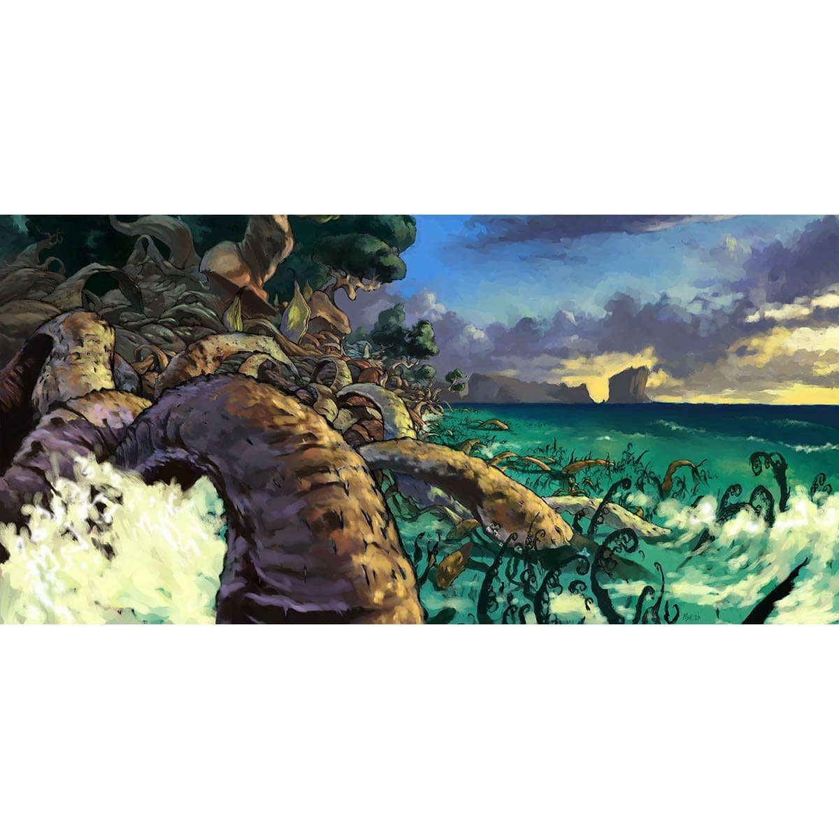 Yavimaya Coast Print - Print - Original Magic Art - Accessories for Magic the Gathering and other card games