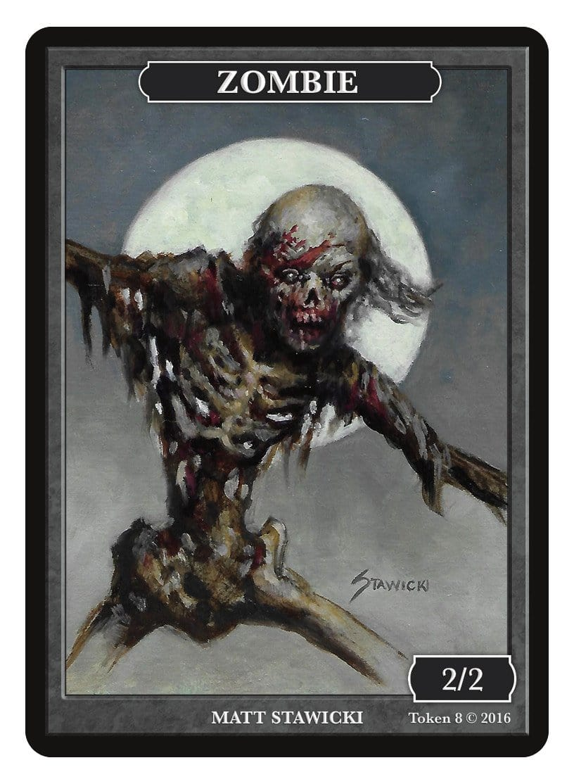 Zombie Token (2/2) by Matt Stawicki - Token - Original Magic Art - Accessories for Magic the Gathering and other card games